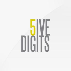 5ive Digits - logo design, branding, brand design