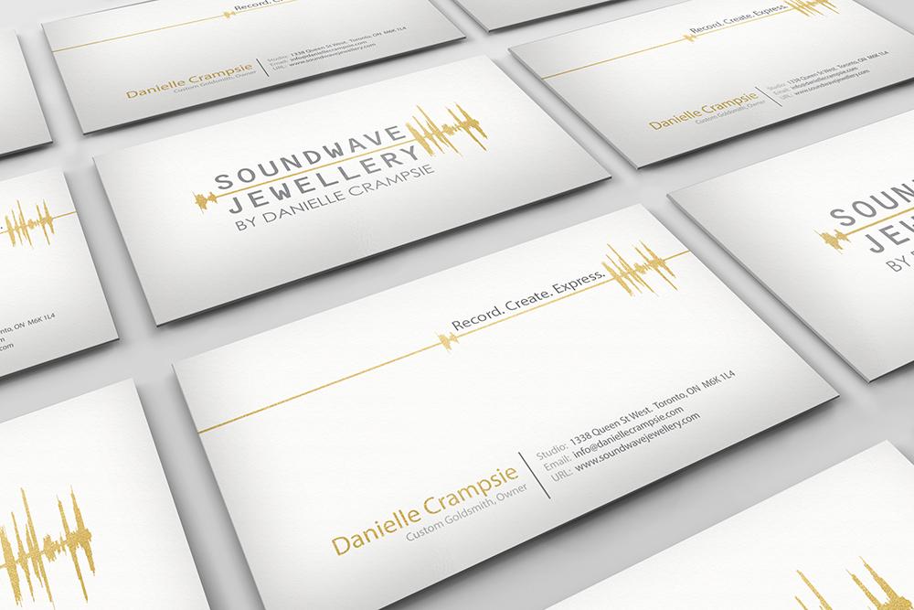 Soundwave Jewellery - business card design, logo design, branding, brand design: jewellery, refined, soundwave, logo