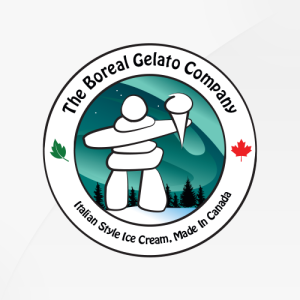Boreal Gelato - logo design, branding, brand design