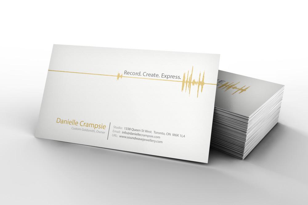Web design development graphic design seo soundwave jewellery business card design reheart Gallery