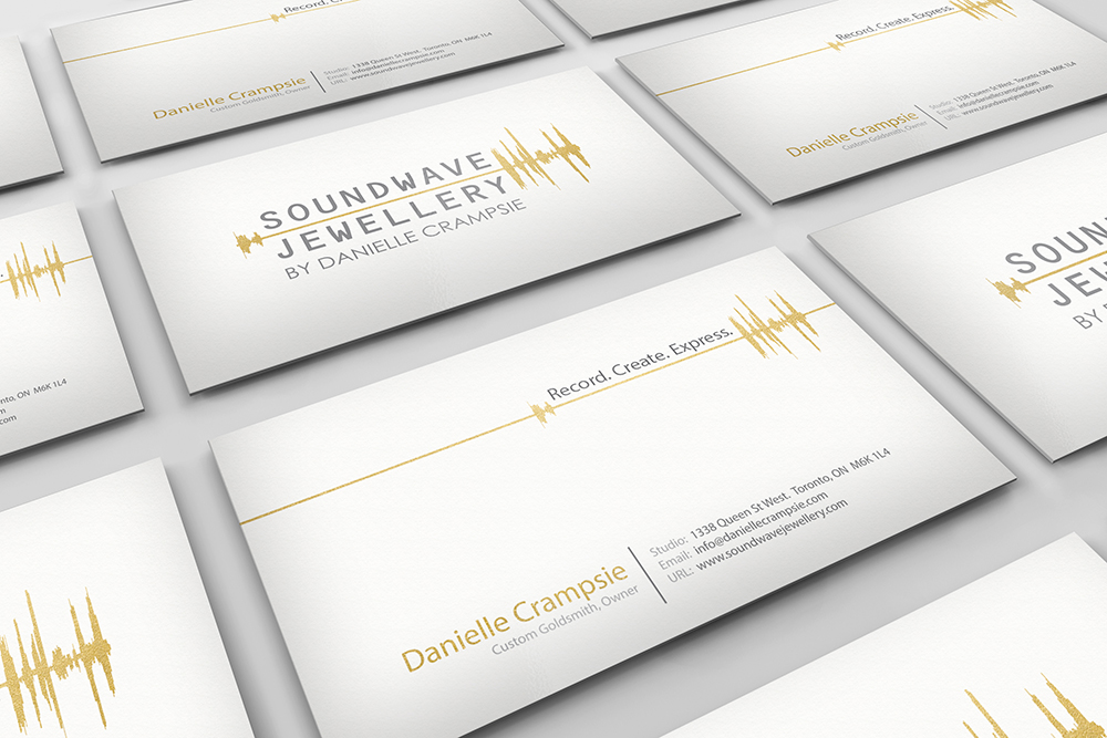 Soundwave Jewellery - business card design, logo design, branding, brand design: jewellery, refined, soundwave, logo