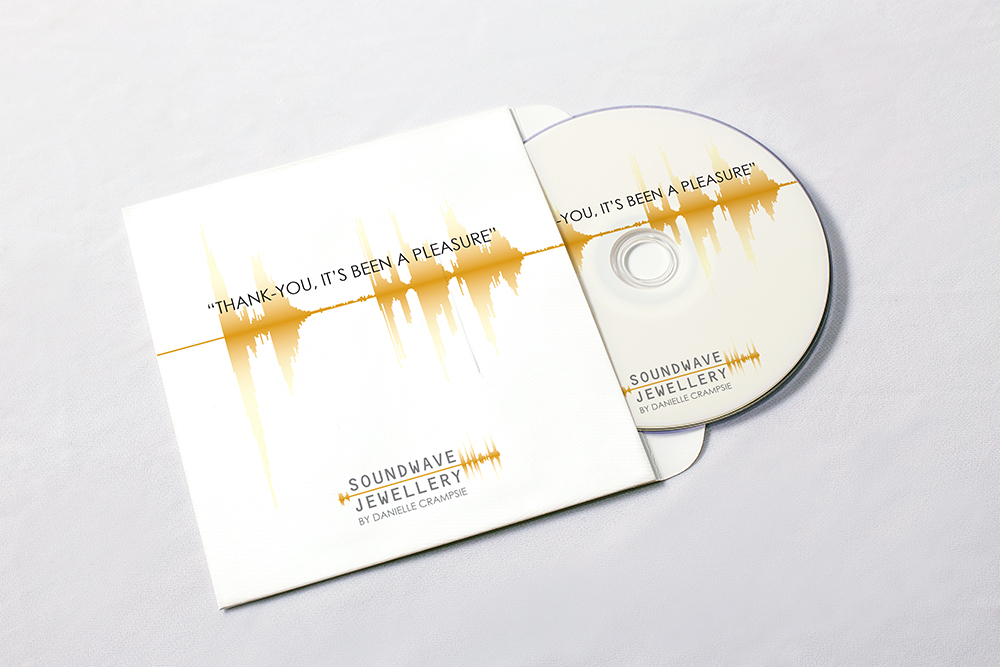 Soundwave Jewellery - cd cover design, logo design, branding, brand design: jewellery, refined, soundwave, logo